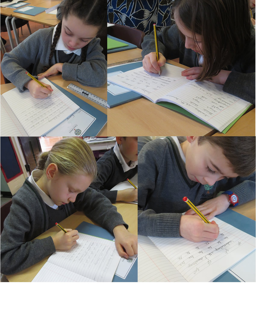 Practising handwriting improves our presentation.