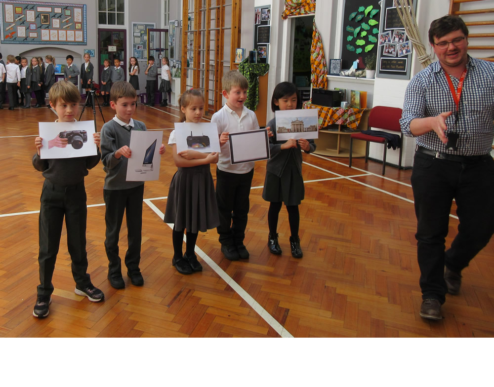 We learnt about the stages our photo will go through on its way to the gallery.