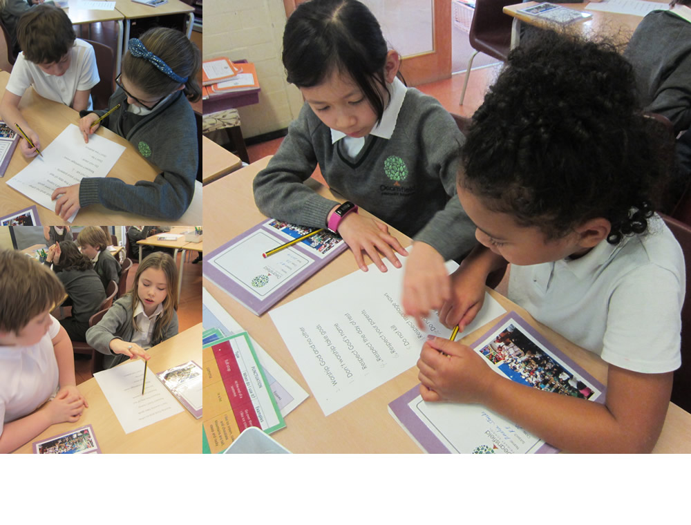 Looking at the ten commandments in RE.
