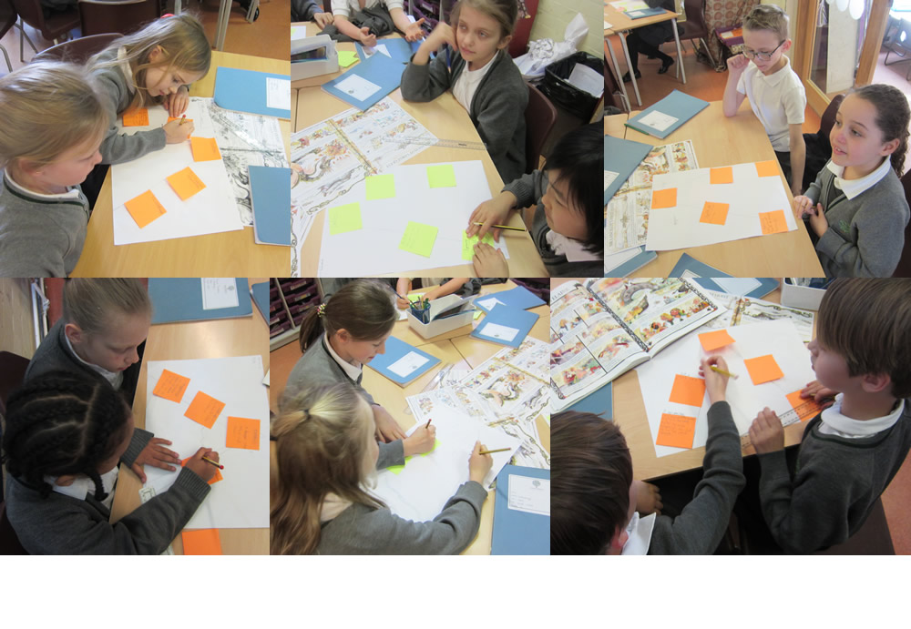 Analysing the events in a story of The Knights of King Arthur.