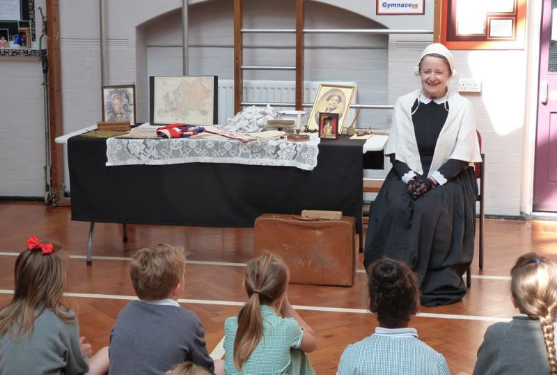 Florence Nightingale brought lots of objects to show us.