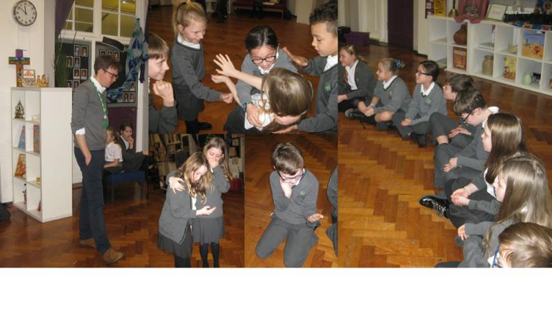 Year 5 looked at the effects of malicious messaging as part of their workshop.