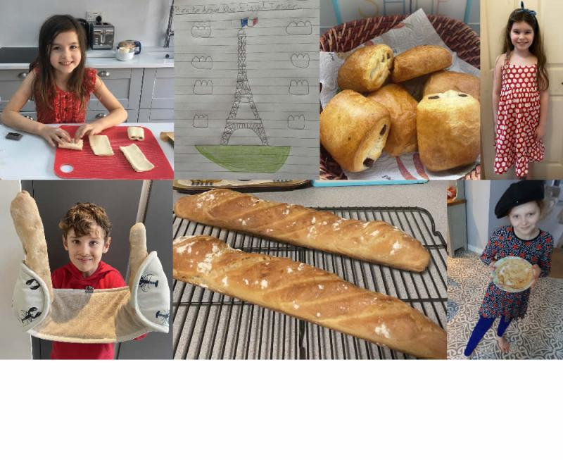 Celebrating French Day at home.