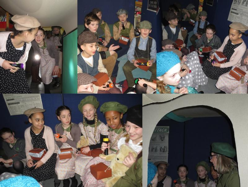 Hot drinks, life stories and singing in the air raid shelter.
