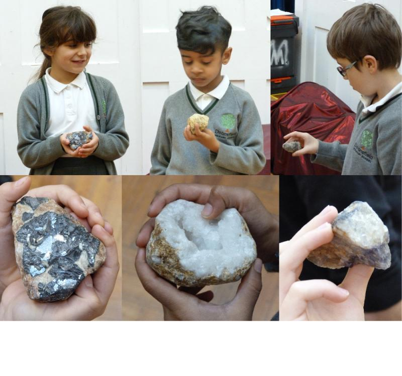 We found out about how metals, crystals and quartz from rocks are used in everyday objects.