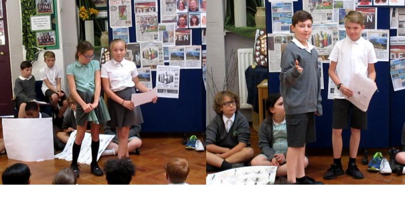 Year 6 report back on their interviews.